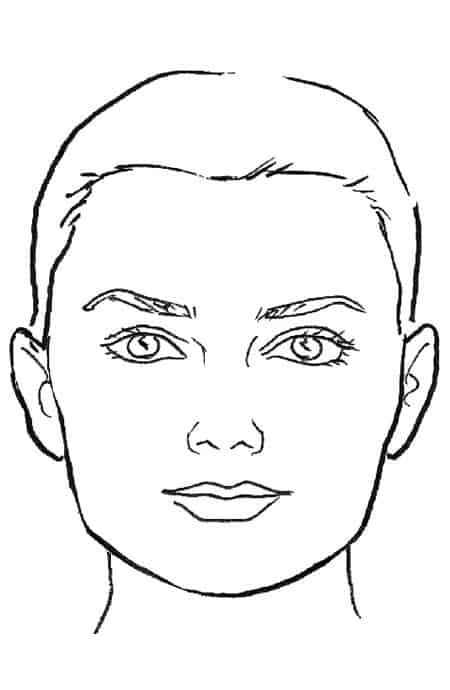 Line Drawing Faces : Hair salon cut and style blow dry