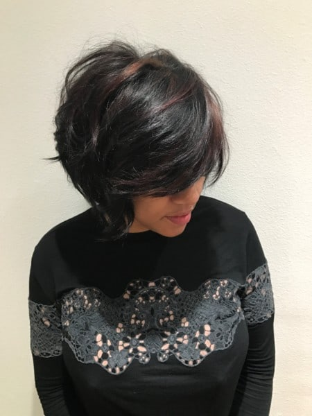 Haircut and Style After - Grand Beauty Hair Salon Tampa