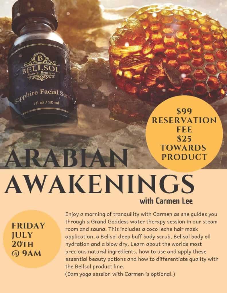 Arabian Awakenings Event   Grand Beauty Spa