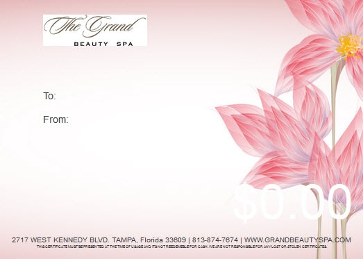 Spring Gift Card | Grand Beauty Spa