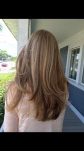 Balyage hair color 1