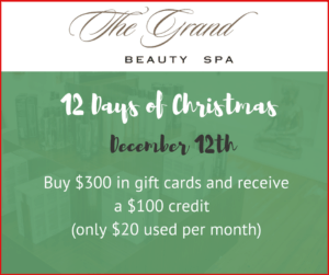 12 Days of Christmas - Grand Beauty Spa - Second Day