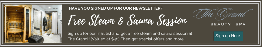 Grand Spa Email List Sign Up banner