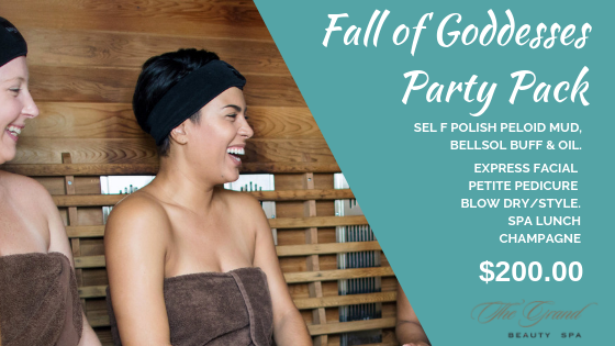 Fall of Goddesses party pack - Grand Beauty Spa